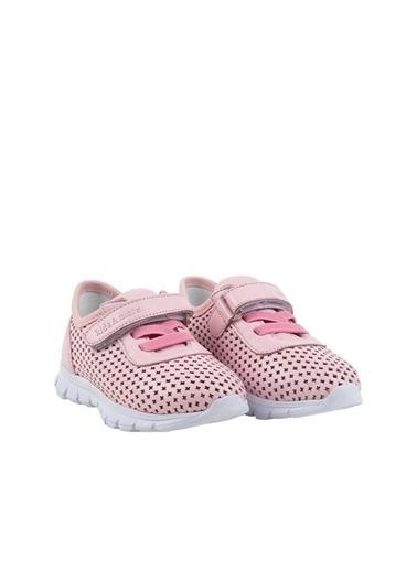 Kids A More Hool Tek Cırtlı Deri Kız Çocuk Sneaker  Pembe